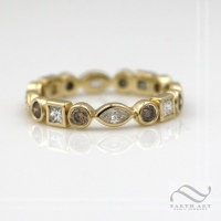 Dainty 14k gold & Diamond Eternity band