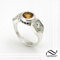 Hufflepuff House Engagement ring