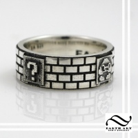 Mario Goomba Ring - Sterling Silver