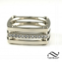 Custom Mens Diamond Squircle Ring