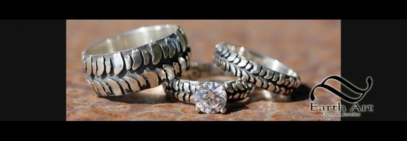 Mud Bogger Tire Rings and wedding bands